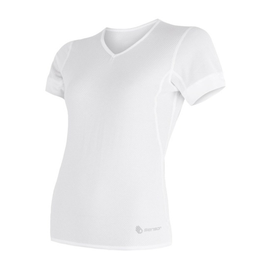 Women shirt Sensor Coolmax Fresh Air V-neck white 17100022