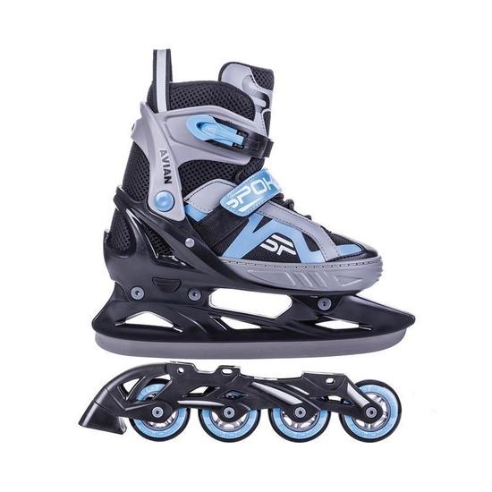Skates winter I summer Spokey AVIANA adjustable, gray-blue