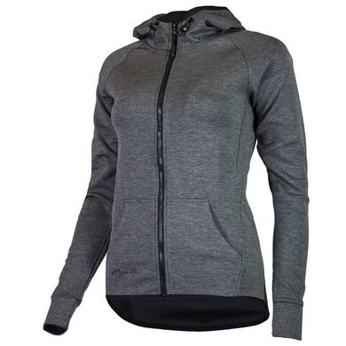 All-in women's functional hoodie Rogelli TRAINING with hood, grey 050.609.