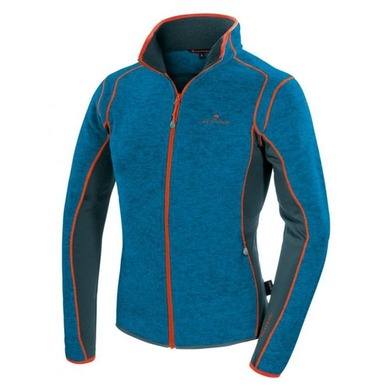 Men buttoned hoodie Ferrino Cheneil bright blue