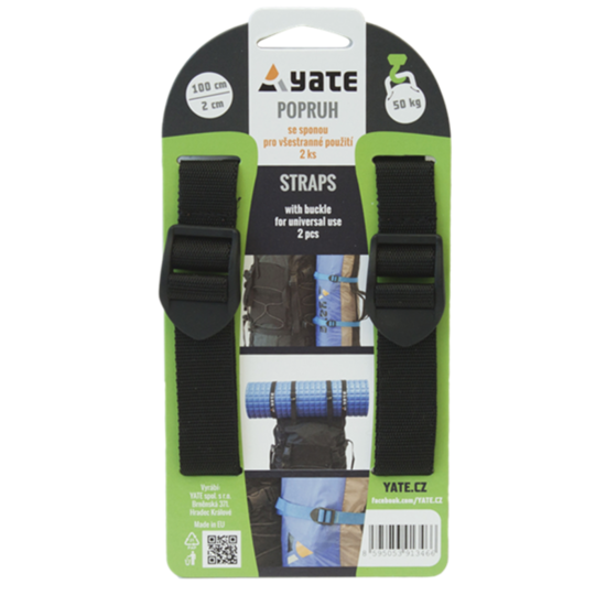 Strap YATE with buckle 2x100 cm 2 pc