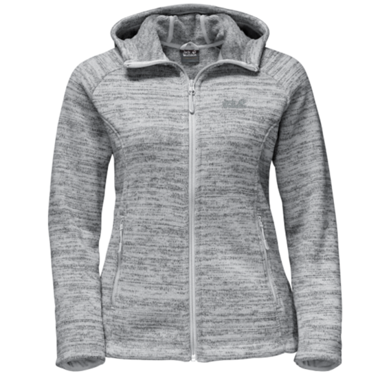 Sweatshirt JACK WOLFSKIN Aquila Hooded Jacket Women grey