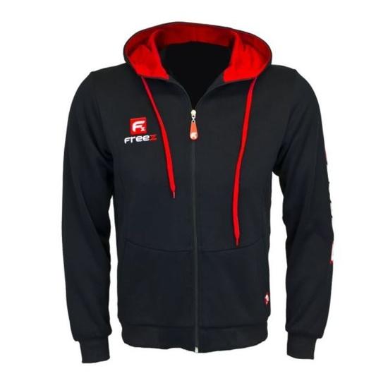 Sports hoodie FREEZ VICTORY ZIP HOOD black / red senior