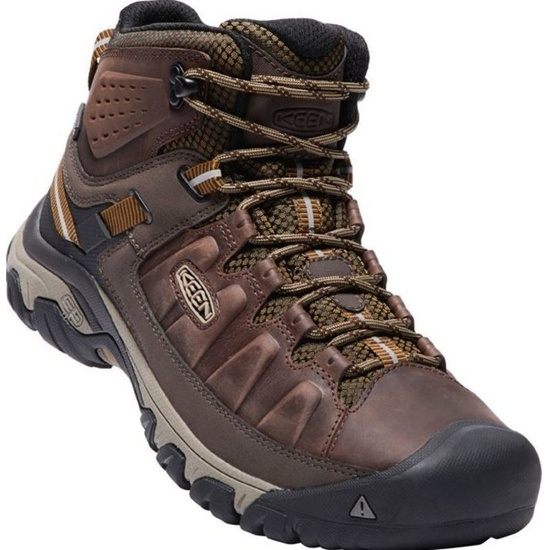 Men boots Keen Targee 3rd MID WP M, big ben / golden brown