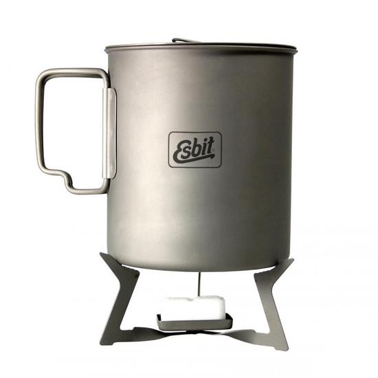 Folding titanium cooker to solid fuel Esbit ST11.5-TI