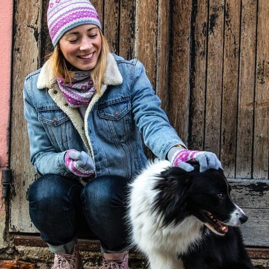 Knitted Merino gloves Kama R107 109