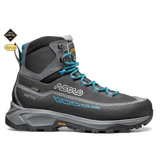 Shoes Asolo Arctic GV ML gray / gunmetal / blue peacock A884