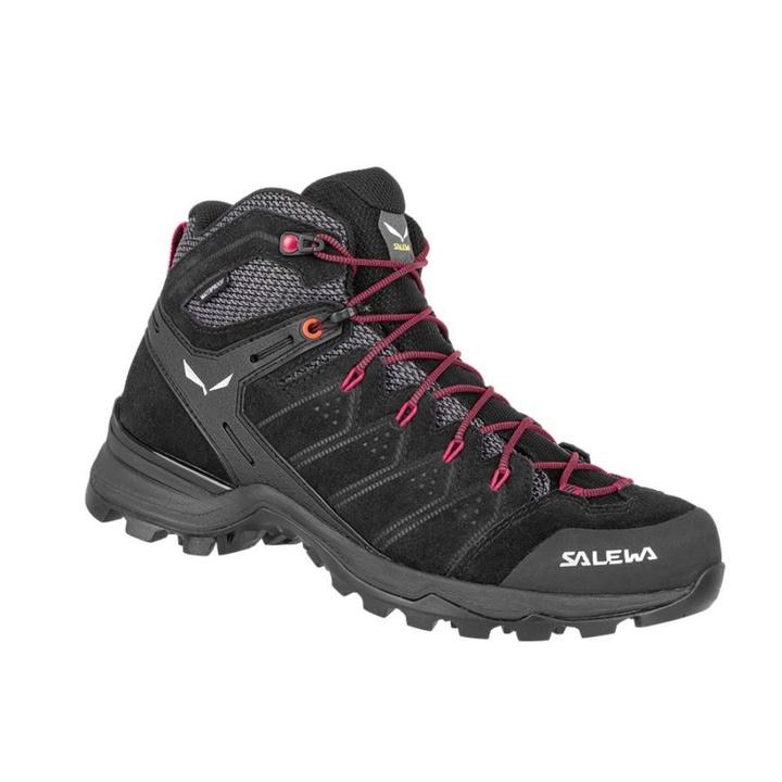 Women boots Salewa WS ALP MATE MID WP black out / virtual pink