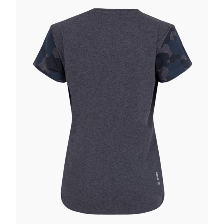 Women's T-shirt Salewa Camou Sleeve Dry premium navy melange 28260-3986