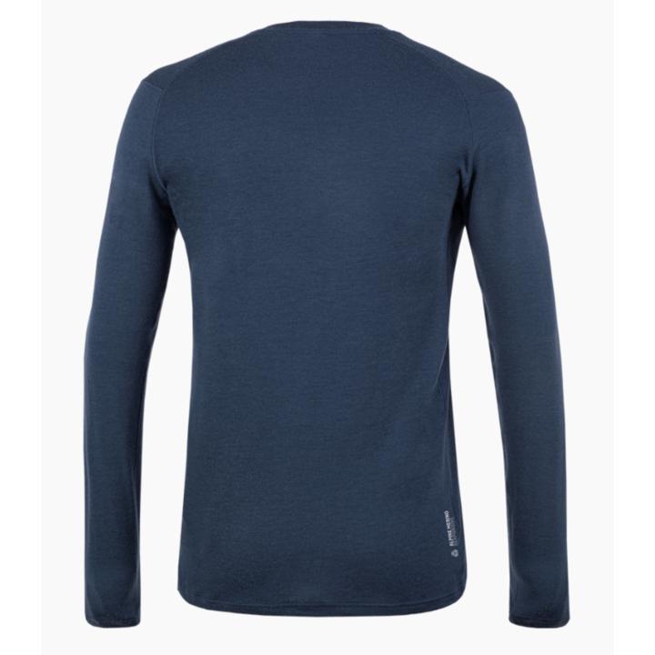 Men's T-Shirt Salewa Pure logo merino responsive long Sleeve Tee navy blazer 28262-3960