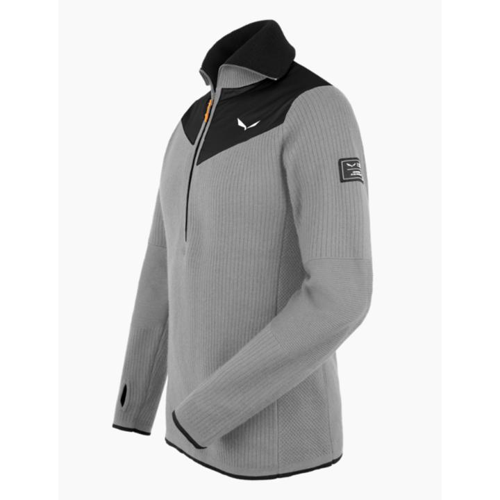 Men's sweatshirt Salewa Sella Merino heather gray 28271-0624