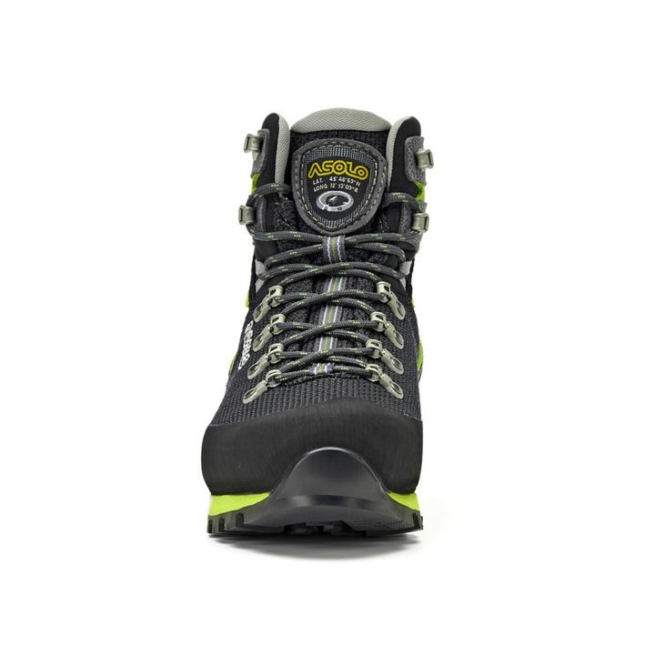 Men boots Asolo Corax GV Black / Green Lime/A561