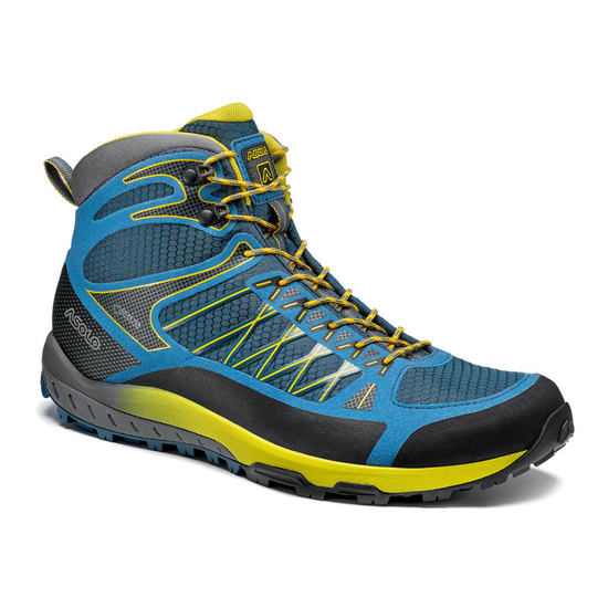 Shoes Asolo Grid Mid GV MM indian teal/yellow/A898