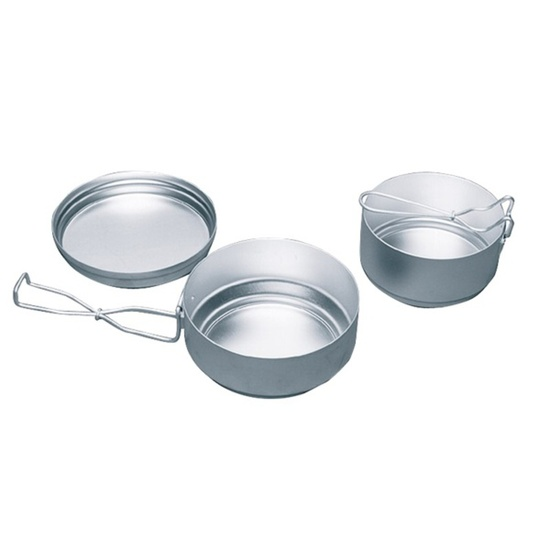 Camping cookware Yate AL three-part