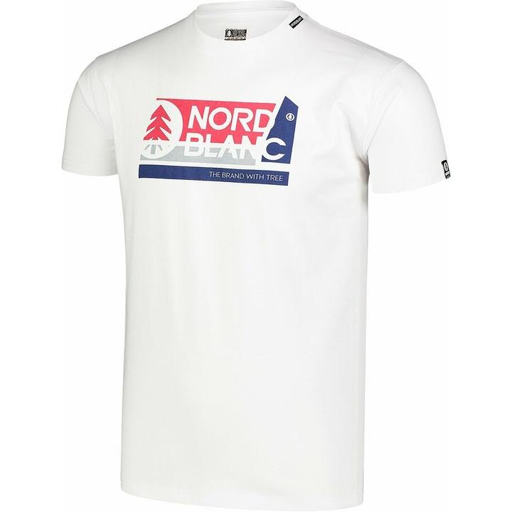 Men's cotton shirt Nordblanc WAL LON white NBSMT7391_BLA