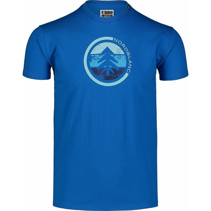 Men's cotton shirt Nordblanc TRICOLOR blue NBSMT7397_INM