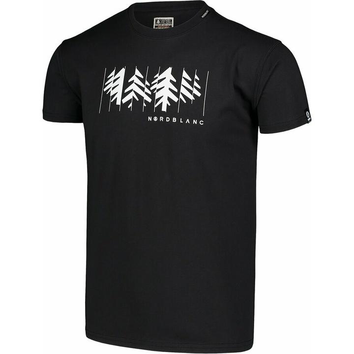 Men's cotton shirt Nordblanc DECONSTRUCTED black NBSMT7398_CRN
