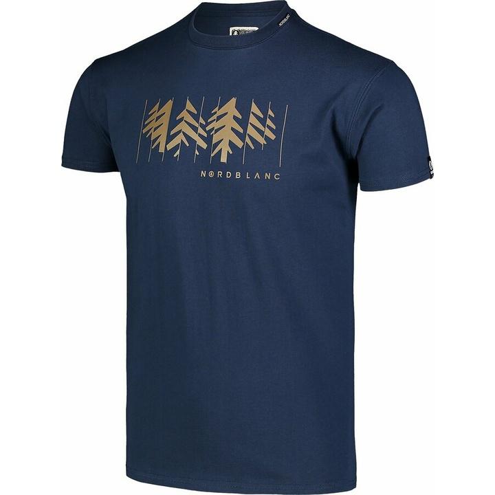 Men's cotton shirt Nordblanc DECONSTRUCTED blue NBSMT7398_MOB