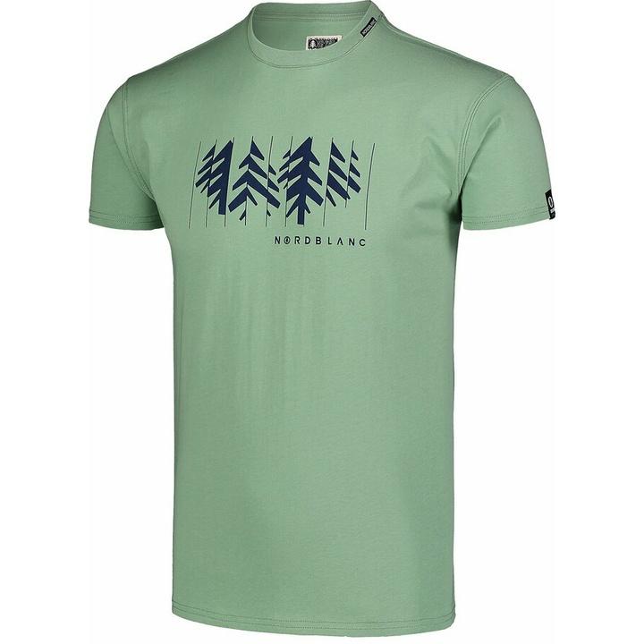 Men's cotton shirt Nordblanc DECONSTRUCTED green NBSMT7398_PAZ