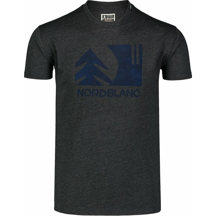Men's cotton shirt Nordblanc TREETOP black NBSMT7399_CEM