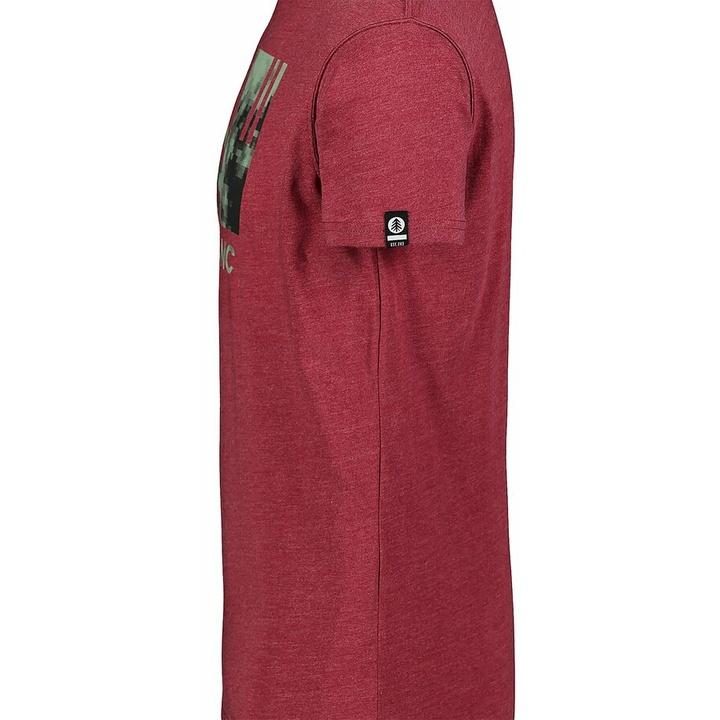 Men's cotton shirt Nordblanc TREETOP wine NBSMT7399_HCA