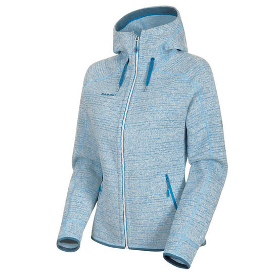 Women hoodie Mammut Arctic ML Hooded Jacket Women brigh white saphire melange 00367 (1014-15703)