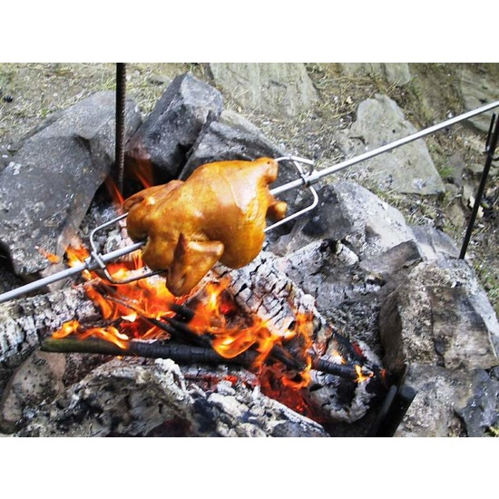 Barbecue Lucifer rotary over fireplace DE1031