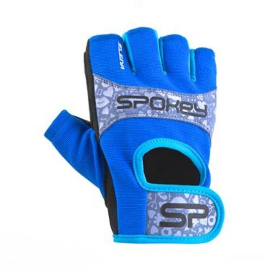 Women fitness gloves Spokey ELENA II blue-turquoise