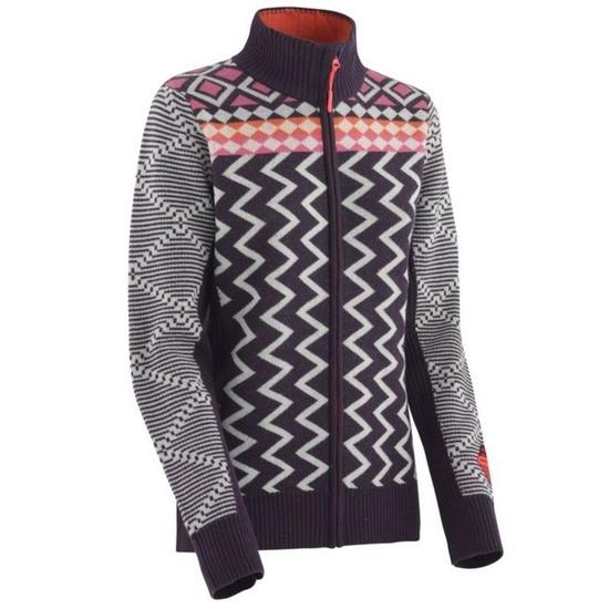 Woolen sweater Kari Traa Vinje F / Z Knit Mauve