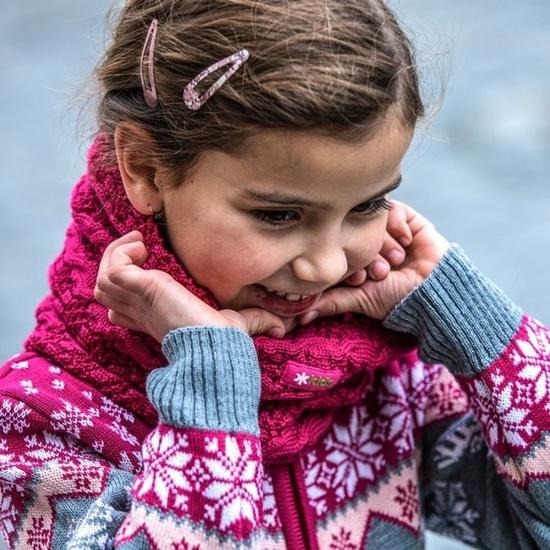 Children knitted Merino headover SB12 114