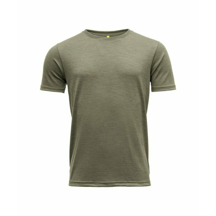 Men's wool T-shirt with short sleeves Devold Eika GO 181 280 B 404A green