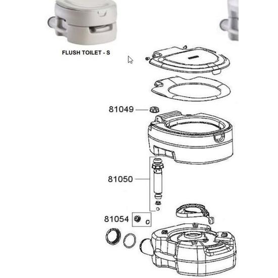 Spare cap to pump for toilet Campingaz Portable Flush Small 81054