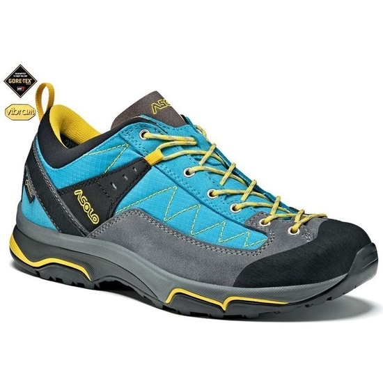 Shoes Asolo Pipe GV ML gray / cyan blue/A793