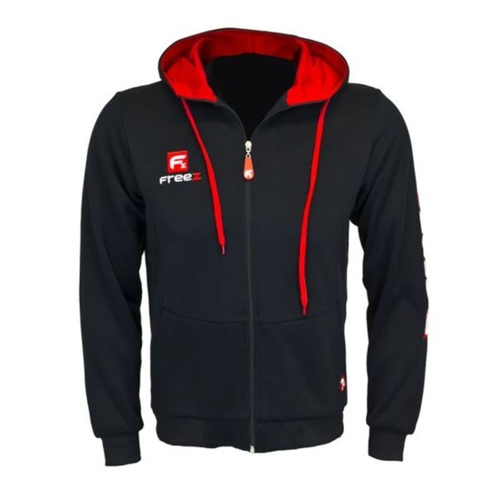 Sports hoodie FREEZ VICTORY ZIP HOOD black / red junior