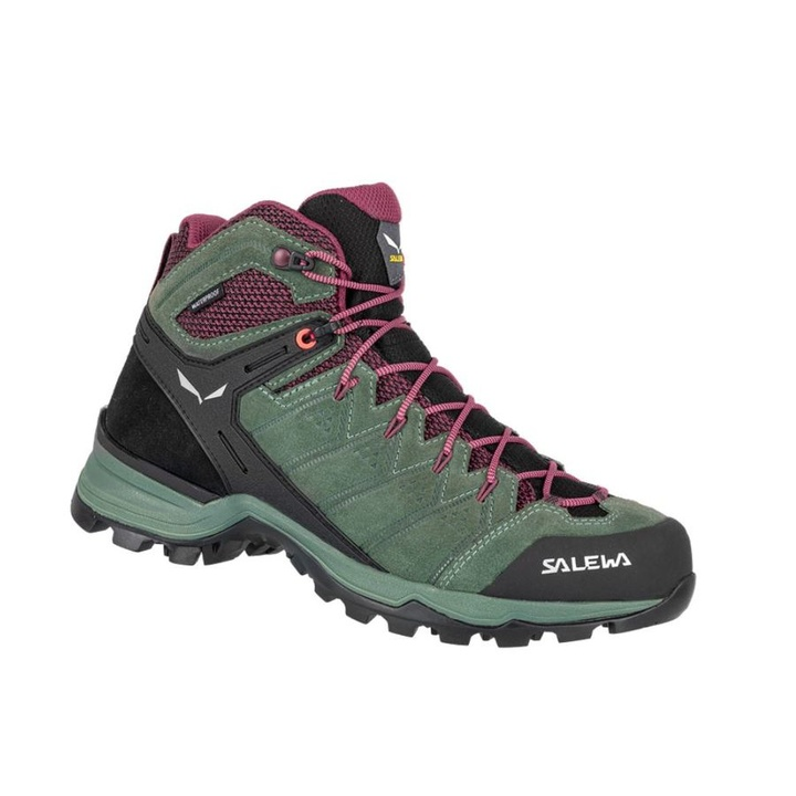 Women boots Salewa WS ALP MATE MID WP duck green / ghododendon