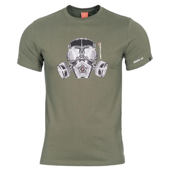 Men t-shirt PENTAGON® Gas mask olive green