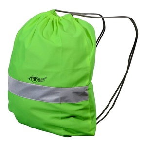 Backpack reflection S.O.R. green, Safety on Road