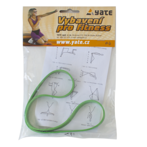 Rubber exercising 'O' medium green package 50 pc, Yate