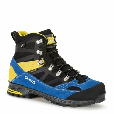 Men's shoes AKU Trekker Pro GTX black / blue / yellow, AKU
