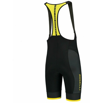 Cyclokrats Rogelli FUSE with gel lining for difficult, black and yellow 002.234, Rogelli