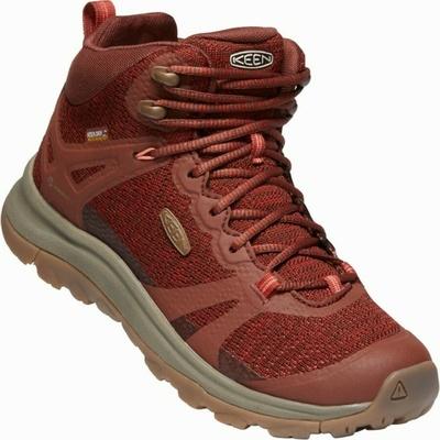 Shoes Keen TERRADORA II Mid Wp Women cherry mahogany/bossa new, Keen