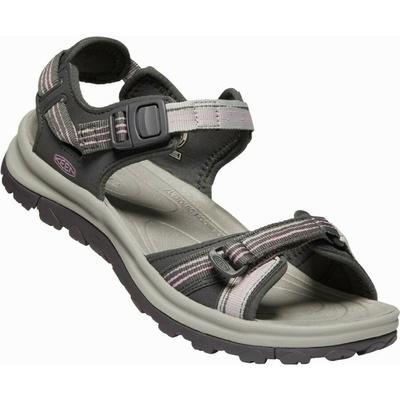 Sandals Keen TERRADORA II Strappy open toe Women black toffee/mykonos blue, Keen