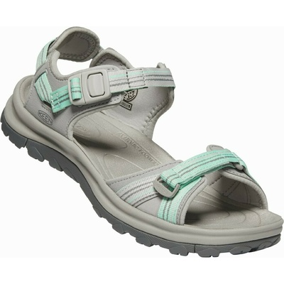 Sandals Keen TERRADORA II Open toe sandal Women light gray/ocean wave, Keen