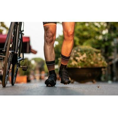 Functional socks Rogelli HERO not only for cyclists, black-orange 007.905, Rogelli