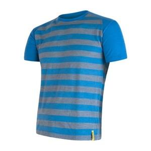 Men shirt Sensor Merino Wool Active blue stripes 16200088