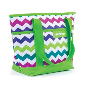 Beach bag Spokey ACAPULCO green pattern, Spokey