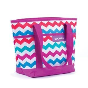 Beach bag Spokey ACAPULCO purple pattern, Spokey