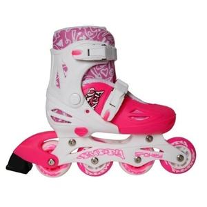 Roller skates Spokey BUDDY white-pink, Spokey