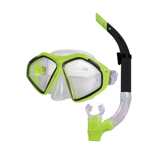 Set glasses + snorkel Spokey KRAKEN II lime, Spokey