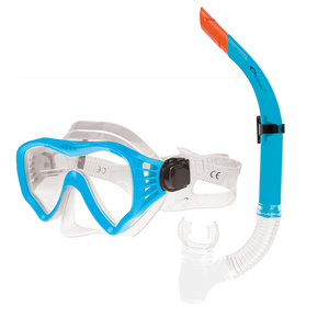 Set glasses + snorkel Spokey GOMERA blue, Spokey